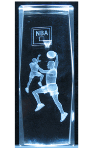 3D Laser Crystal Cube – NBA Players