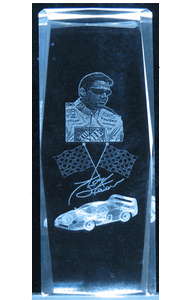 3D-Laser-Crystal-Cube-Race-Car-Tony-Stewart