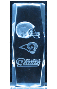 3D Laser Crystal Cube – St. Louis Rams