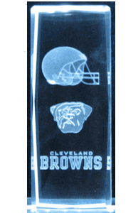 Laser-Crystal-Cube-Cleveland-Browns